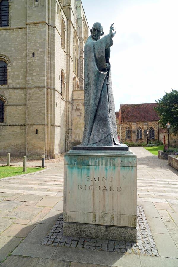 Free Bronze Statue Of Saint Richard Stock Photo - 158079480