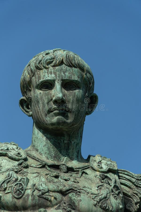 Bronze statue of the Roman Emperor Augustus Caesar stock photography