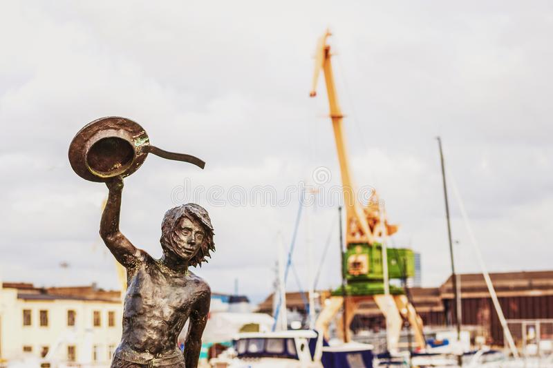 The bronze statue royalty free stock images