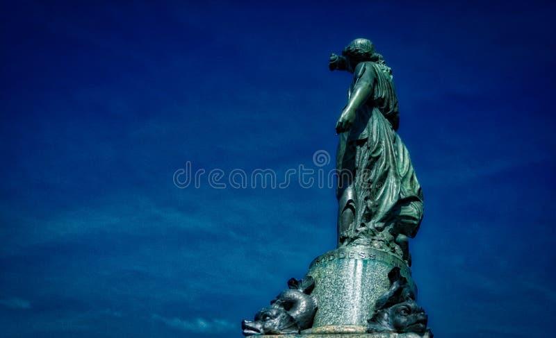 Bronze statue of Victoria goddess royalty free stock image
