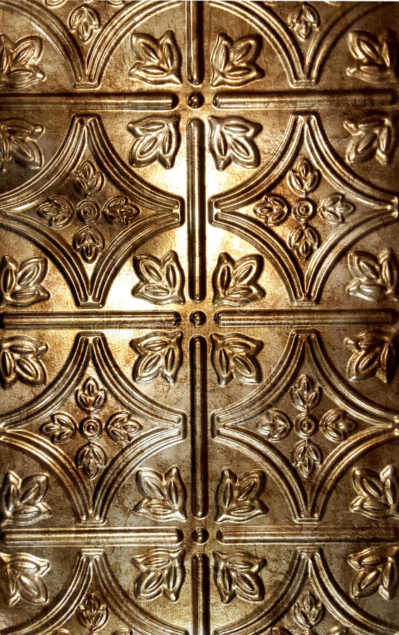 Bronze tin tile background stock photography