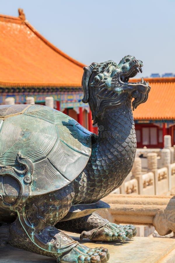 Download Bronze Turtle In Forbidden City Stock Photo