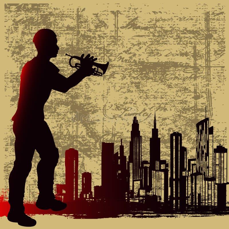 Bronze urbano ilustração do vetor