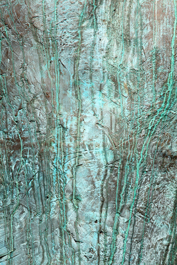 Bronze Verdigris Background Royalty Free Stock Images