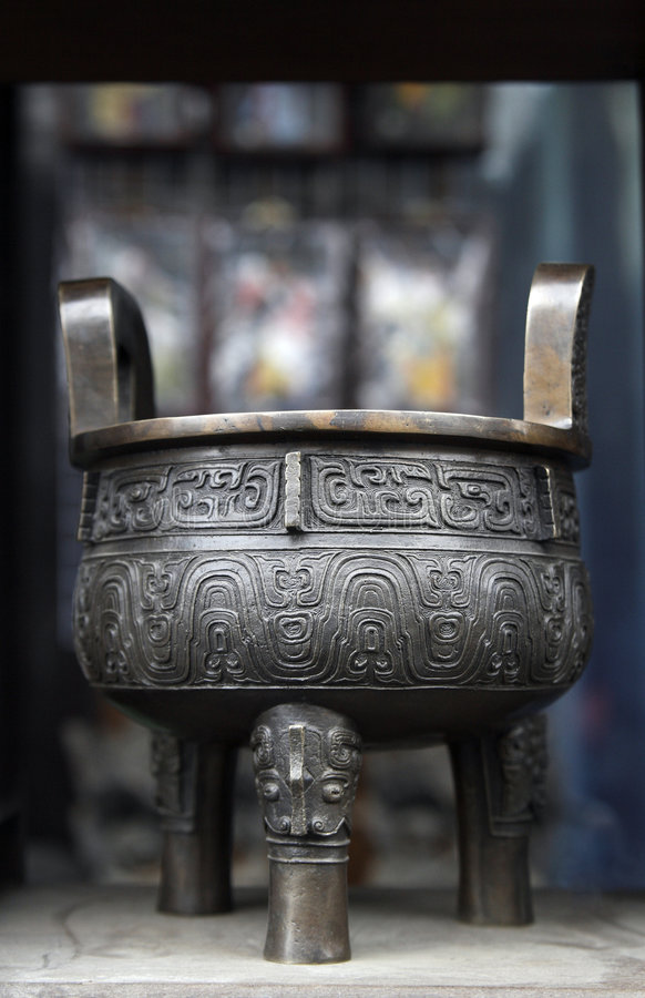 A bronze ware stock photos