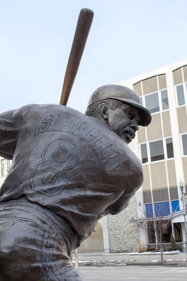 Bronze Willie Stargell at Bat from Behind royalty free stock photography