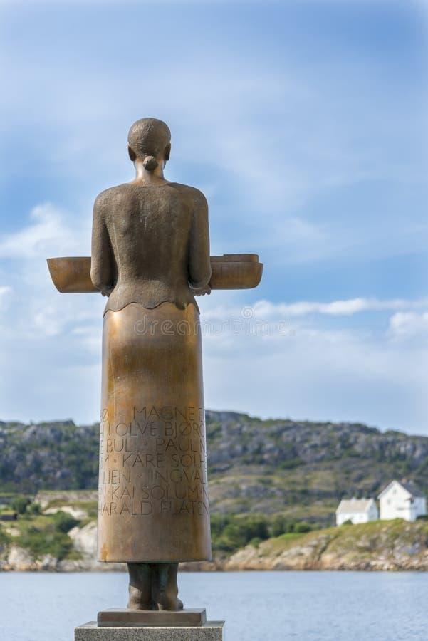 Bronze Woman Sculpture, Bodo Stock Photos