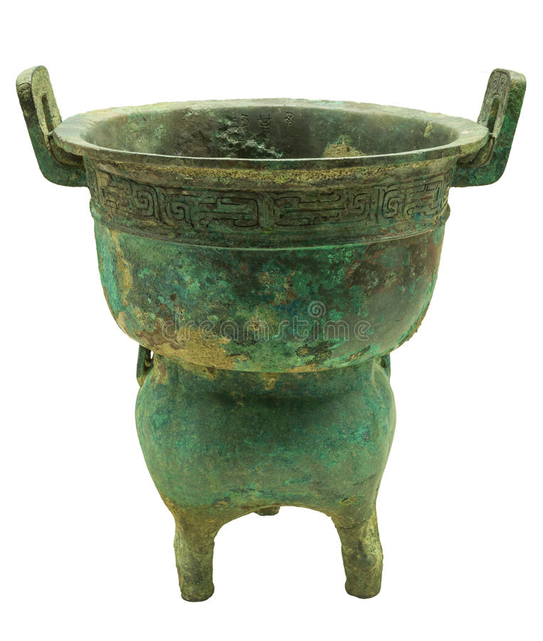 Bronze - Yan. Ancient Chinese bronze ware production elegant, artistic value is the highest in the world bronze ware, its peculiar modelling, decorative beauty royalty free stock photography