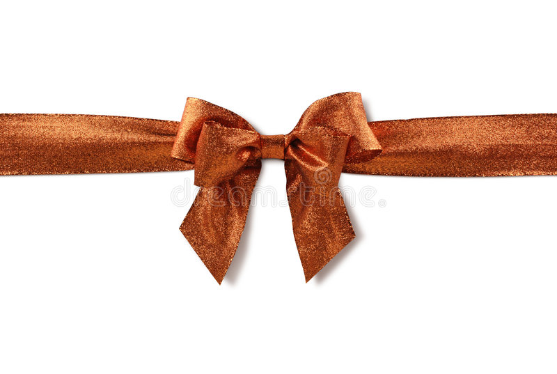 Download Bronzed bow stock photo. Image of card, close, seasonal - 7361394