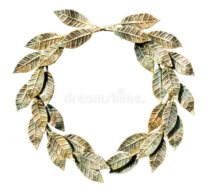 Free Bronzed Laurel Wreath (isolated). Royalty Free Stock Image - 6594416