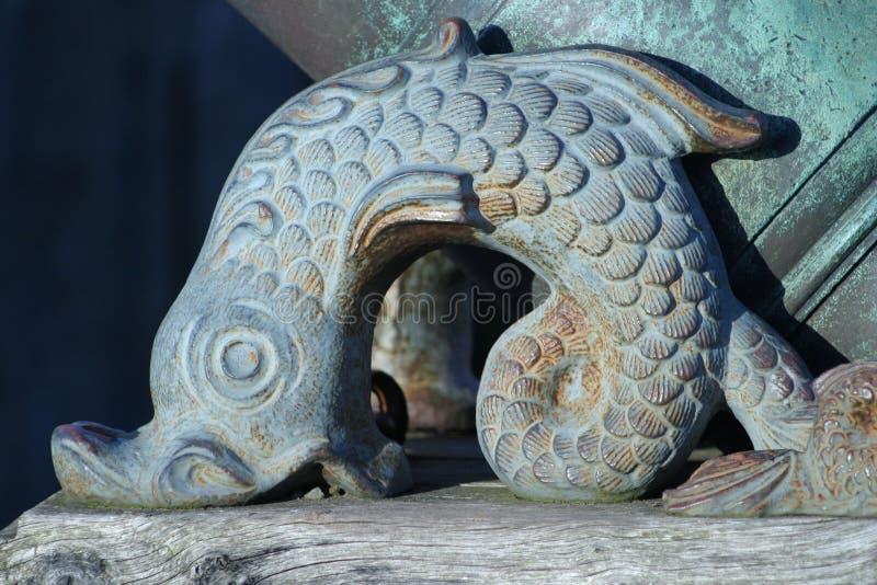 Bronzefische stockbild
