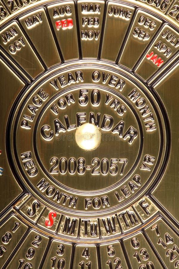 Bronzekalender. stockfoto