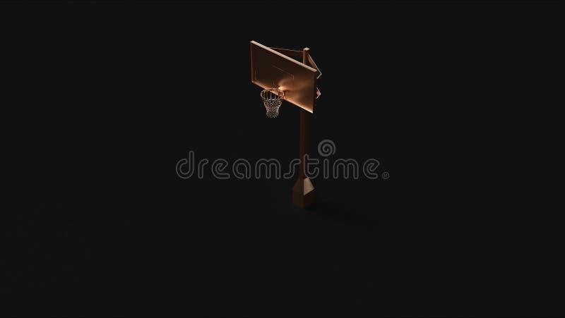 Bronzemessingbasketballkorb lizenzfreie abbildung