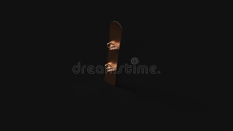 Bronzemessingsnowboard vektor abbildung