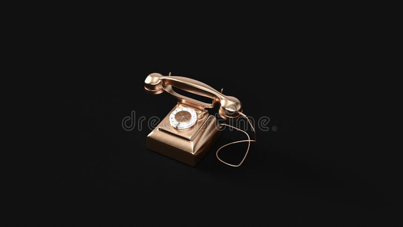 Bronzemessingtelefon stock abbildung