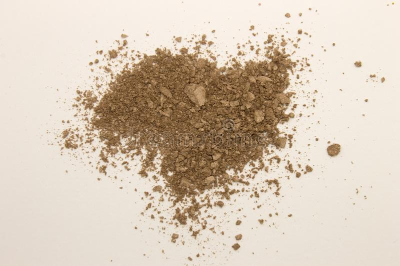 Bronzer powder. This is a photograph of a Bronzer powder makeup isolated on a White background stock image