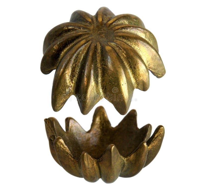 Bronzeschatulle Blume stockbild