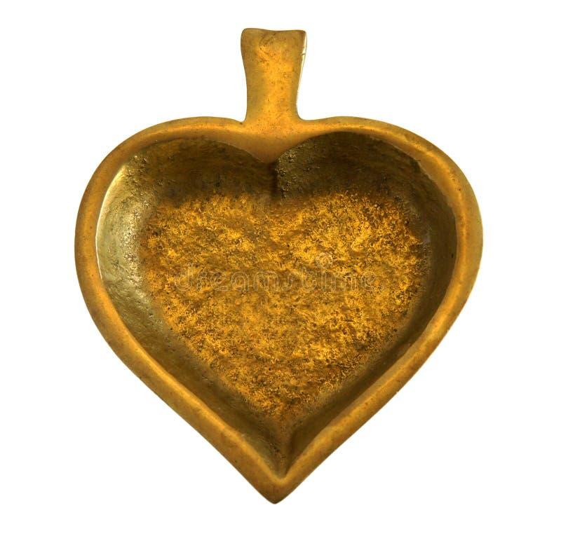 Bronzeschatulle Spaten lizenzfreies stockfoto