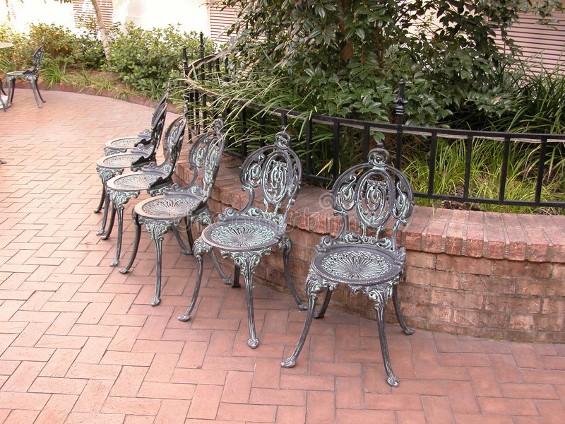 Bronzestühle lizenzfreie stockfotografie
