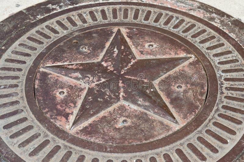 Bronzestern mit Patina lizenzfreies stockbild