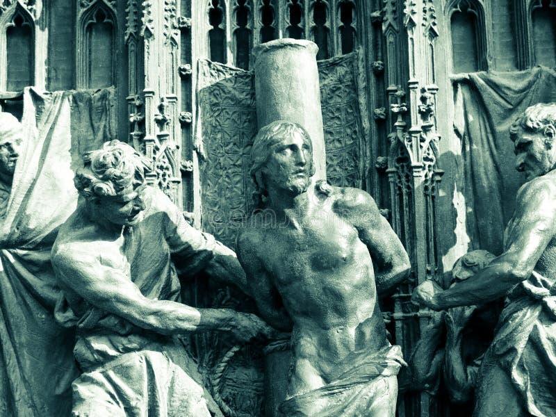 Bronzetor der Kathedrale von Mailand stockfotografie