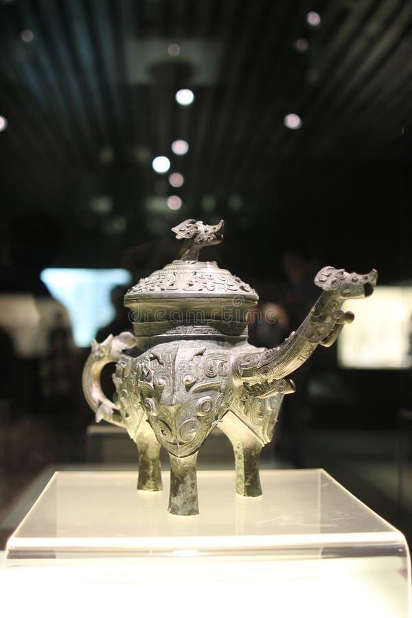 Bronzeware nel museo di Shanghai 20-2 immagine stock libera da diritti