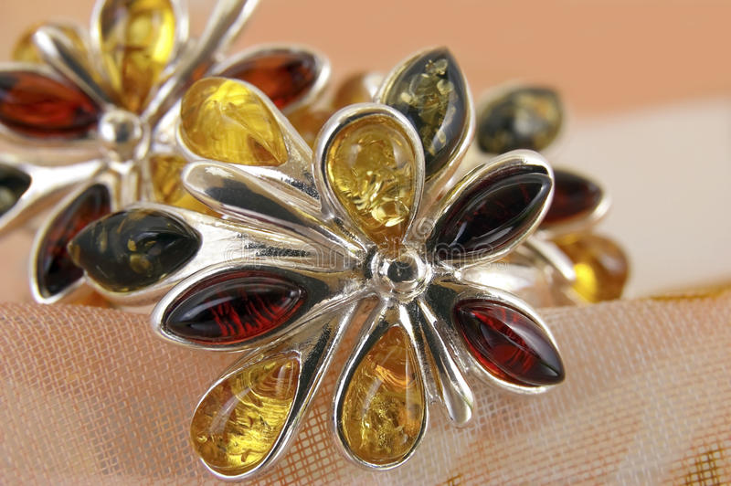 Brooch amber royalty free stock images