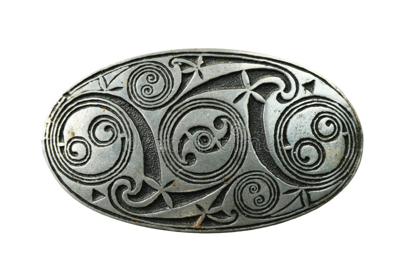 brooch celtico dello schermo fotografia stock libera da diritti