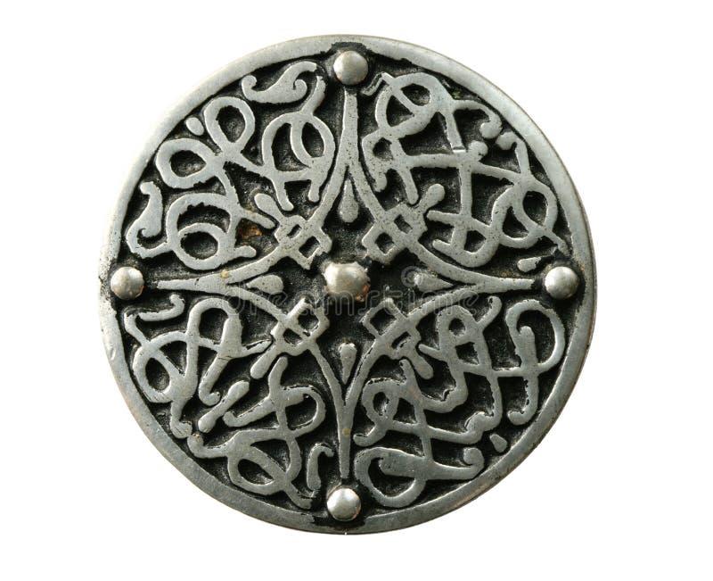Brooch celtico isolato fotografie stock libere da diritti