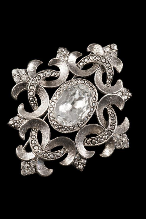 Brooch d'argento dell'annata immagini stock libere da diritti