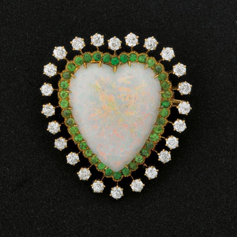 Brooch do coração fotografia de stock royalty free