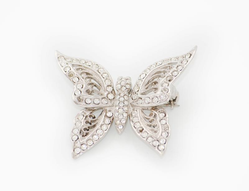 Brooch do diamante fotografia de stock royalty free