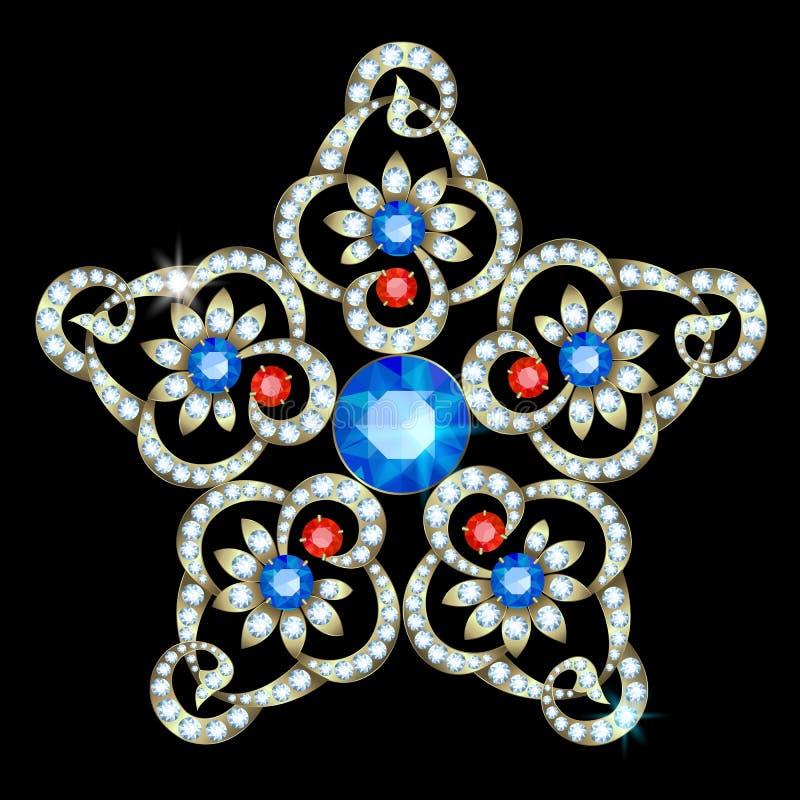 Brooch-star vector illustration