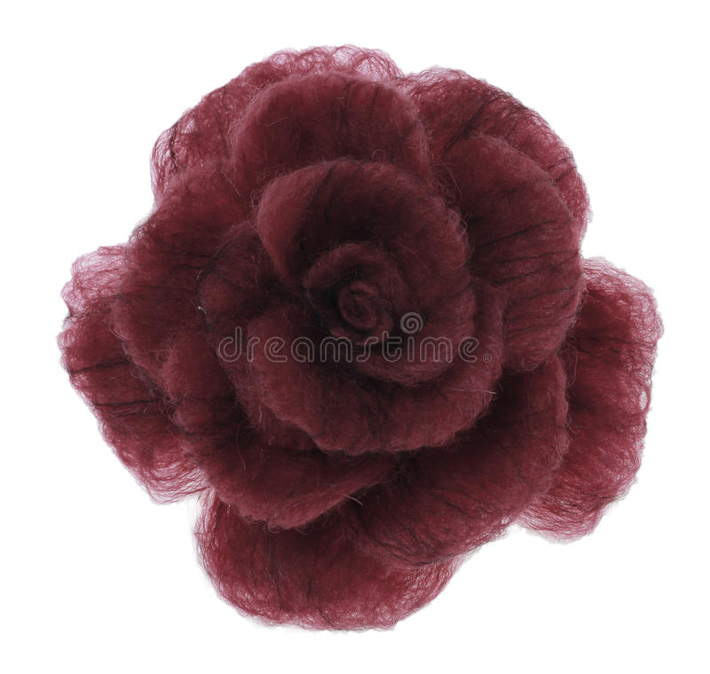 Brooches-rose from coloured felt stock image
