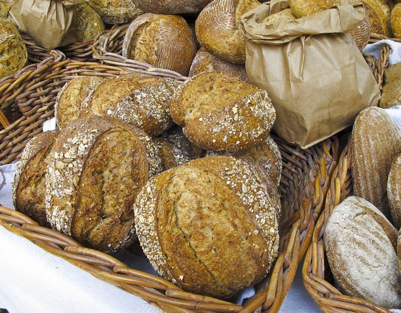 Brood bij de Markt van Landbouwers stock afbeelding