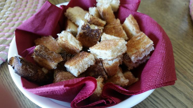 Brood Crutons stock foto's