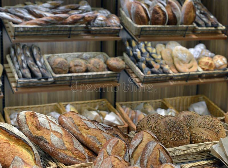 Brood in een winkel stock fotografie
