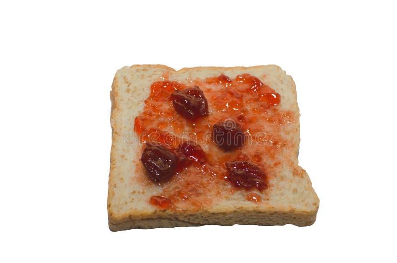 Brood en Aardbeijam stock afbeelding