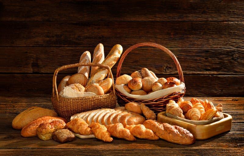 Brood en bakkerij stock afbeelding