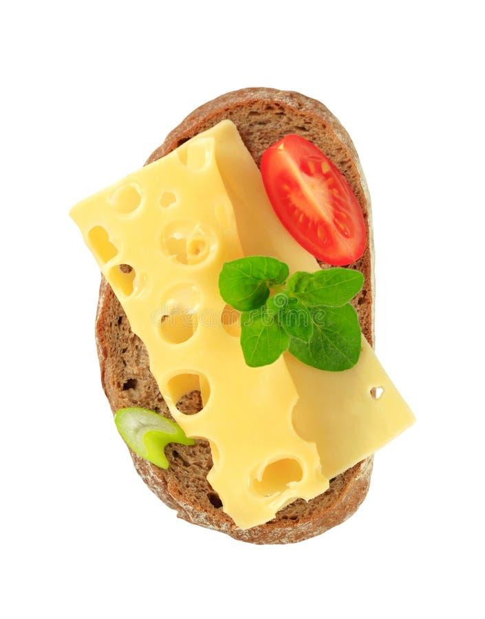 Brood en kaas stock foto