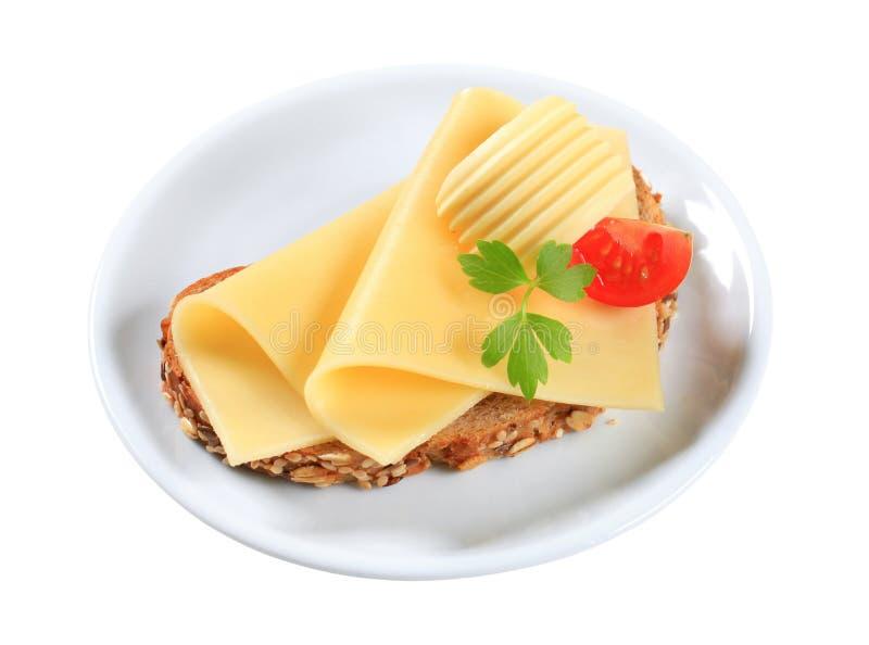 Brood en kaas royalty-vrije stock foto