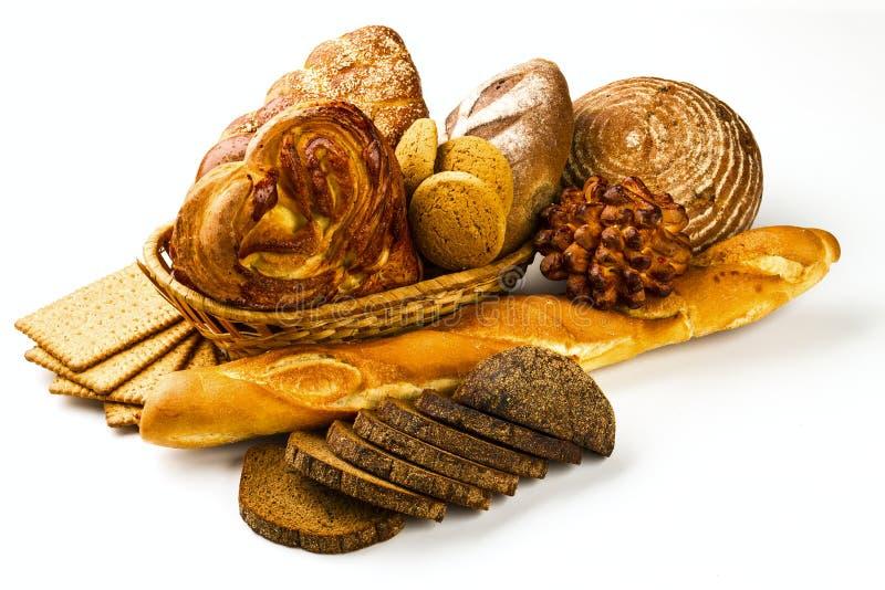 Brood en koekjes stock afbeelding