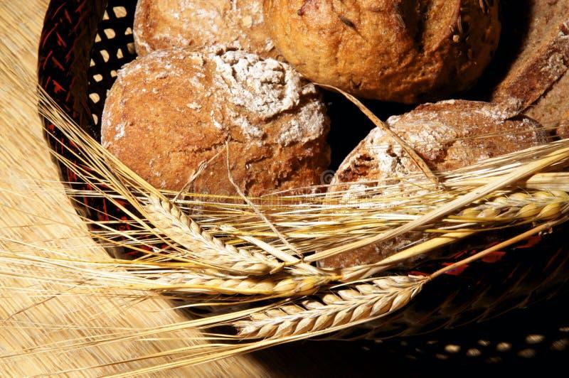 Brood en oren van gerst royalty-vrije stock foto