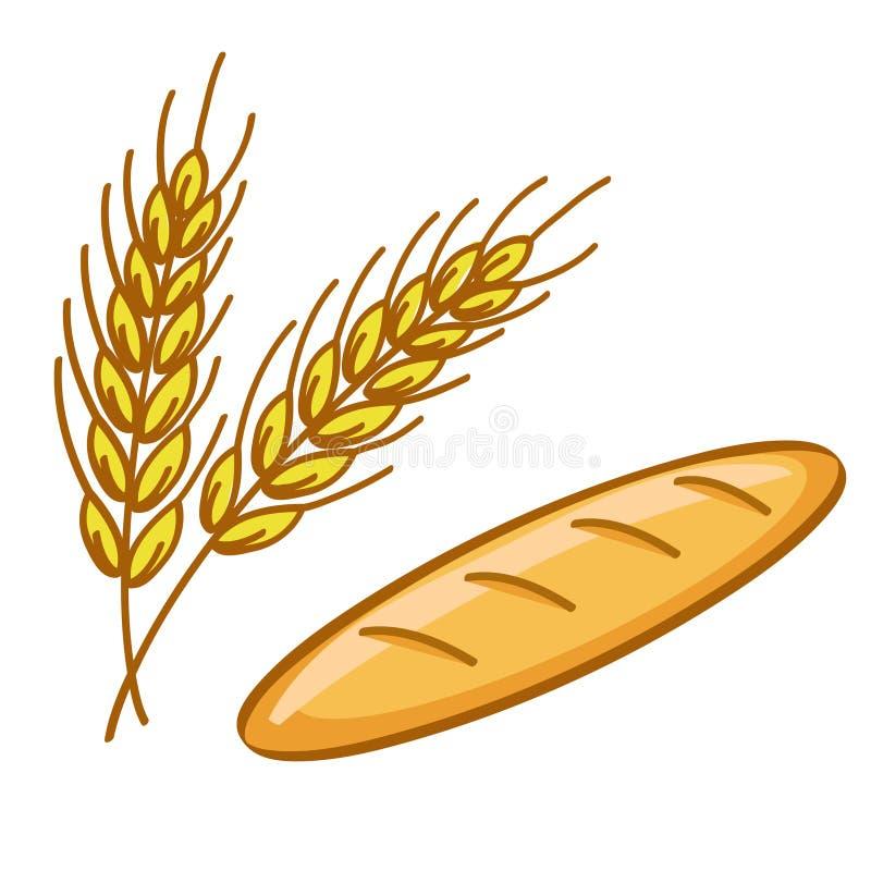 Brood en tarwe royalty-vrije illustratie