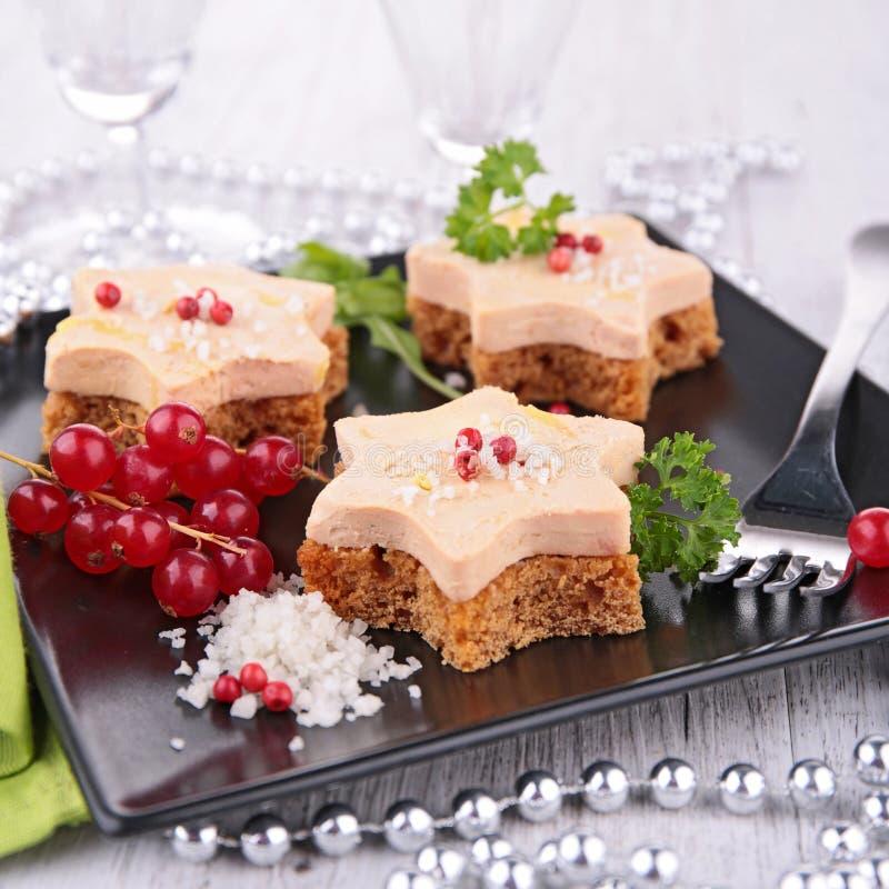 Brood en vlees, canape stock fotografie