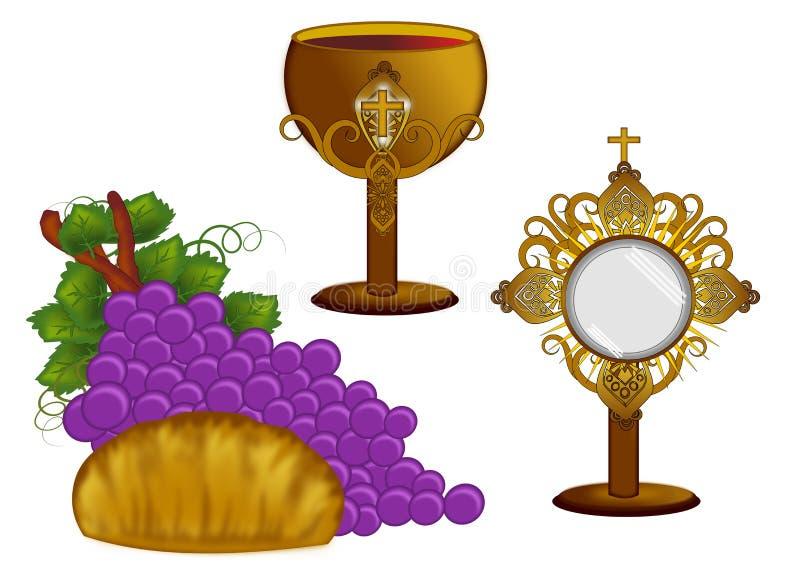 Brood en wijn vector illustratie