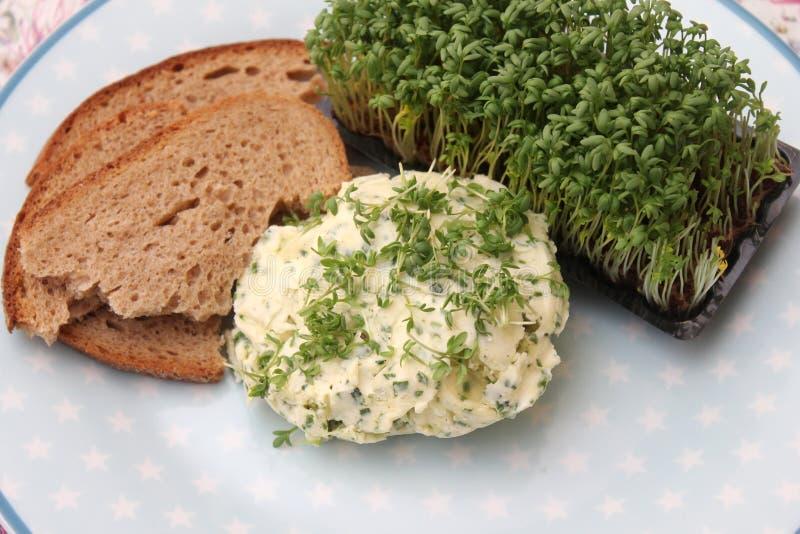 Brood met boter royalty-vrije stock afbeelding