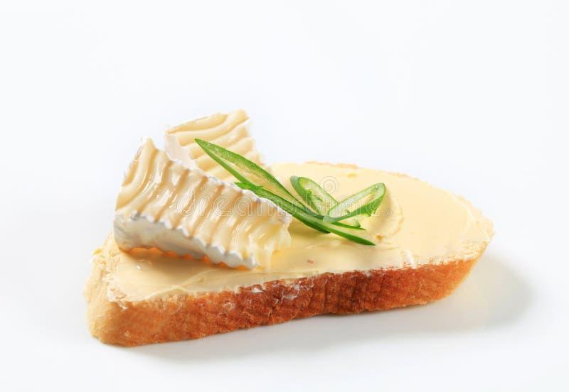 Brood met boter en kaas royalty-vrije stock fotografie