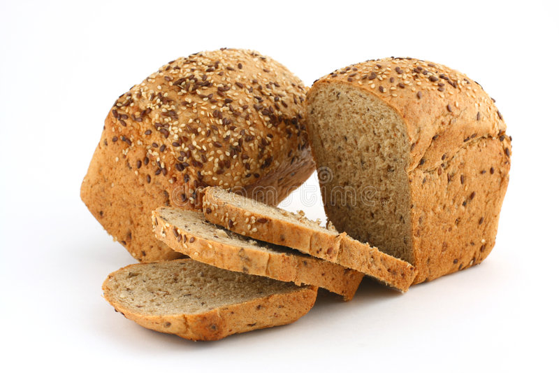 Brood met graangewassen royalty-vrije stock foto