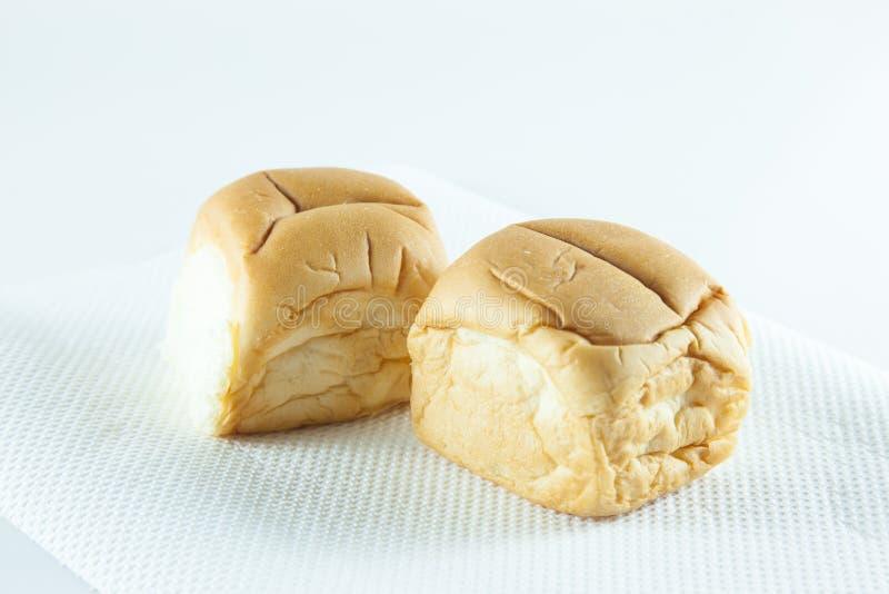 Brood op een witte achtergrond stock foto